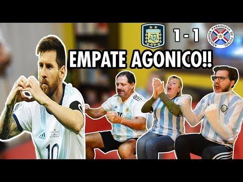 ARGENTINA vs Paraguay 🤫 Reacción FAMILIA ARGENTINA | Copa América 2019