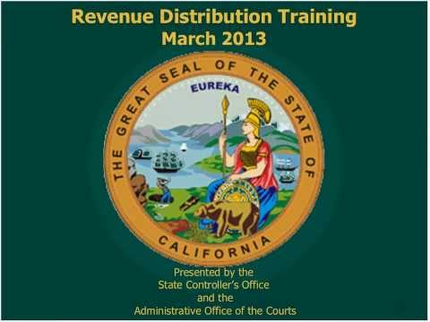 Revenue Distribution Training Program -- Plenary Session Part 1