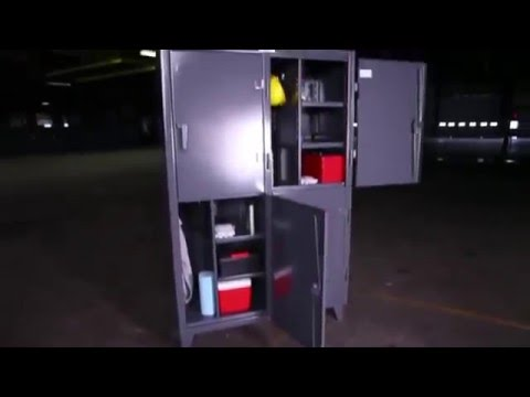 Strong Hold 4 Compartment Storage Cabinet