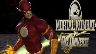 Mortal Kombat Vs DC Universe - The Flash Playthrough - Very Hard (MK Universe)