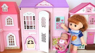 Baby Doll  Pink Two-story House Kitchen Play Toy Soda
