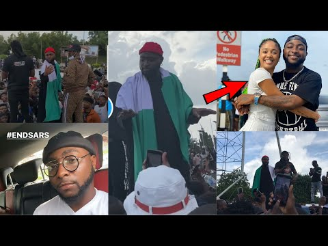 Davido Leads EndSARS Protest in Abuja as SARS Panic, you Won't believe what happened Next