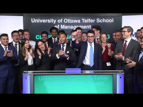 University of Ottawa Telfer School of Management closes Toronto Stock Exchange, October 26, 2017