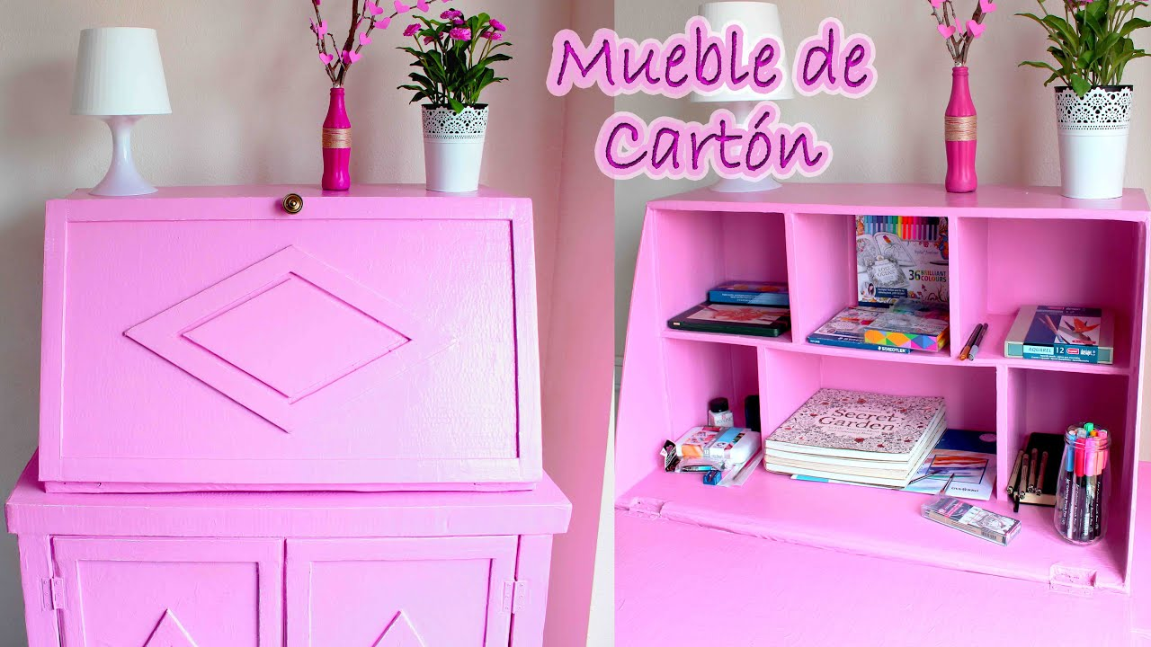 Tutorial mueble de cart n vintage tipo secreter mery - Muebles en carton ...