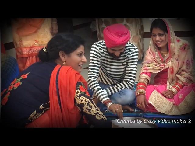 Punjabi Couple playing kangana after wedding.(Gurpreet&Simran)