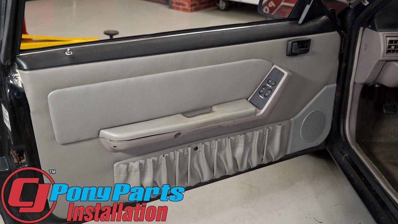 Mustang Tmi Door Panel Original Style Pair 1990 1991 Hatchback Installation Youtube
