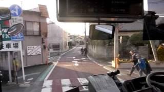 ところバス[南路線山口循環]所沢駅西口→吾妻公民館・前面展望
