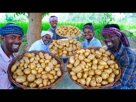 POTATO CHIPS | SUN Dried Homemade Crispy Potato wafers | Traditional Village Cooking Channel