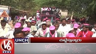1 PM Headlines , KCR Meeting At Yellandu , Farmers Protest In Delhi , TTD Laddus In Paper Boxes , V6