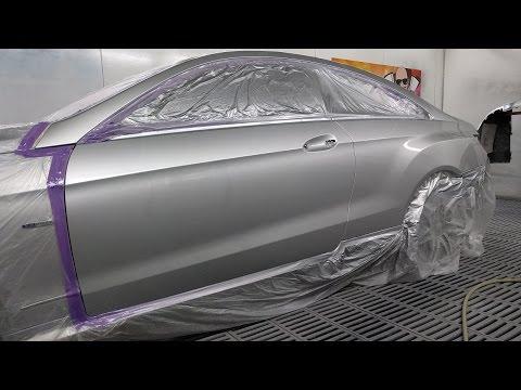 Mercedes Benz E350 Spray Painting