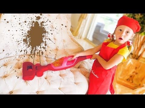 Stacy faz a limpeza e joga no hotel