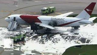 Airplane Engine Bursts Into Flames on Florida Runway | Mashable News