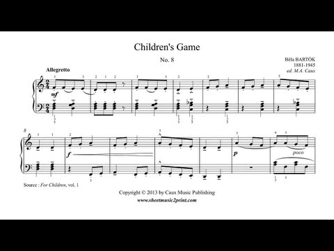 Bartok : Children's Game, No. 8