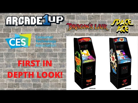 Arcade1up: CES2021 - In Depth Look at Dragon's Lair and Space Ace from PsykoGamer