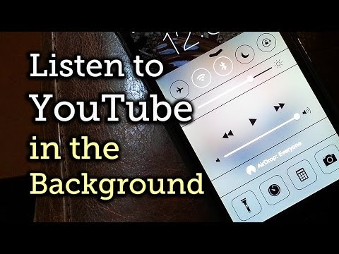How to keep music playing on iphone from youtube