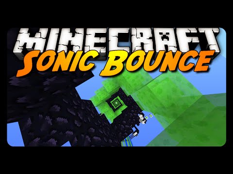 Minecraft: SONIC BOUNCE! (Slime Parkour RAGE)