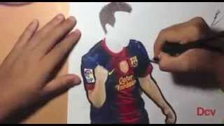 A fan Drawing Lionel Messi