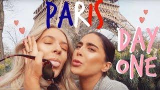 PARIS DAY ONE! | Eiffel Tower, Vegan Goodies + Shopping | Sophia and Cinzia