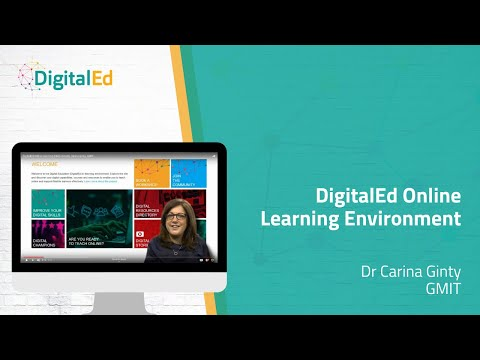 DigitalEd Online Learning Environment, Dr Carina Ginty, GMIT