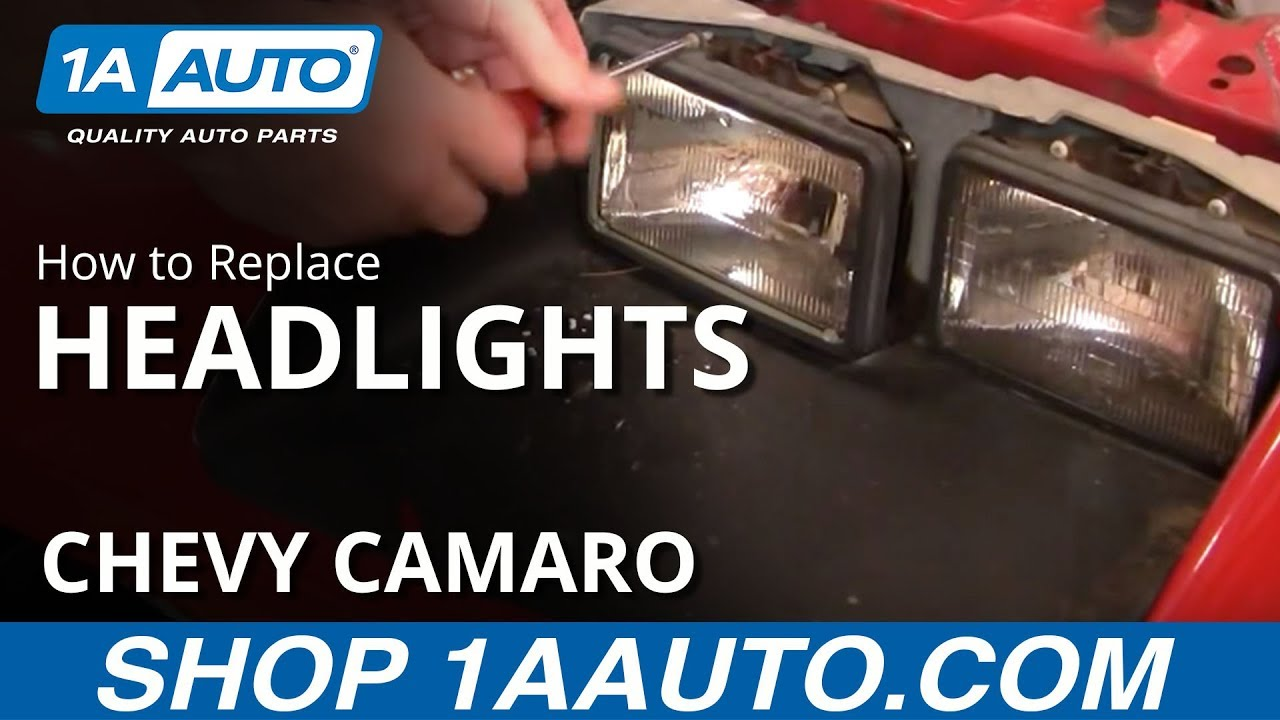 How To Install Replace Sealed Beam Square Headlight 82 92