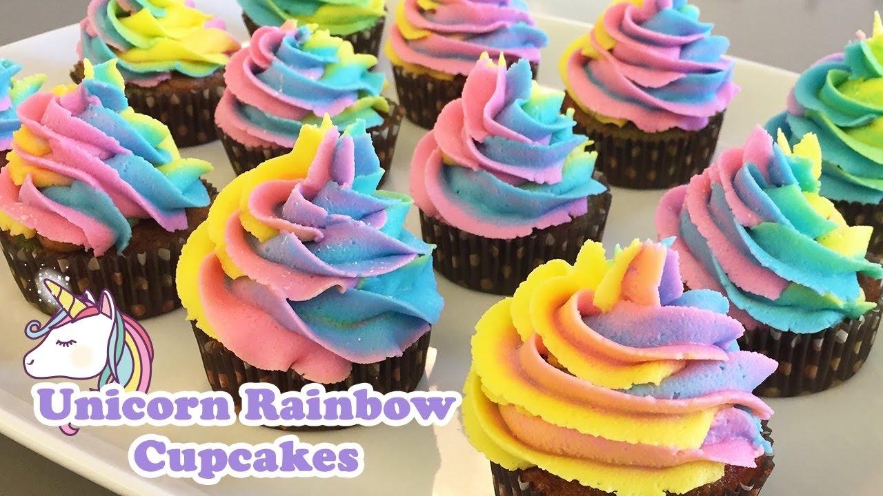 Unicorn Rainbow Cupcakes , Cheeky Crumbs