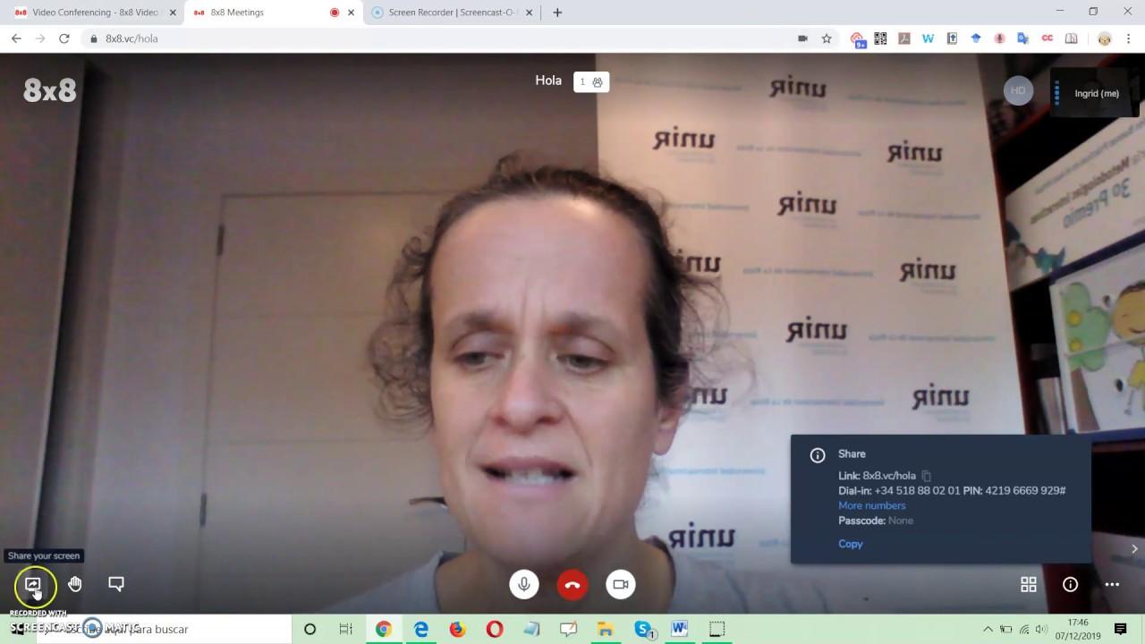 8x8 Video Conferencing. Herramientas digitales básicas para docentes inexpertos