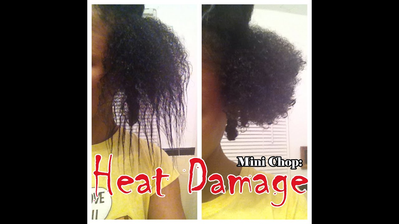 Cutting Off Heat Damaged Natural Hair