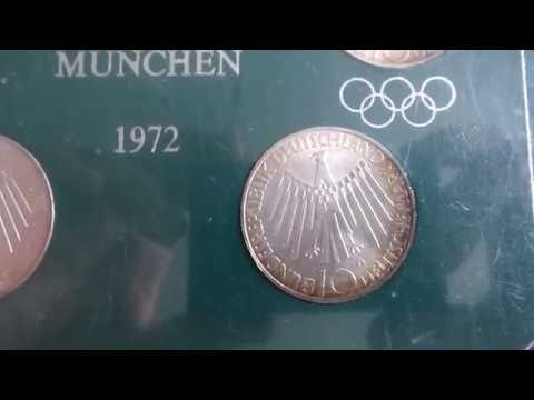 "Olympic Games Munich 1972 - 4 silver ""10 Deutsche Mark"" coins"