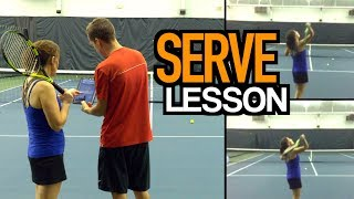 SERVE Tennis Lesson: Technique for Consistency, Accuracy, and Power