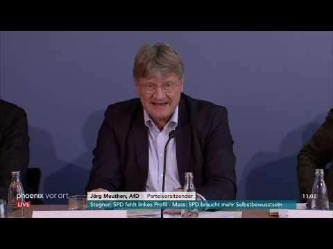 Pressekonferenz der AfD zur möglichen Beobachtung durch den Verfassungsschutz am 05.11.18