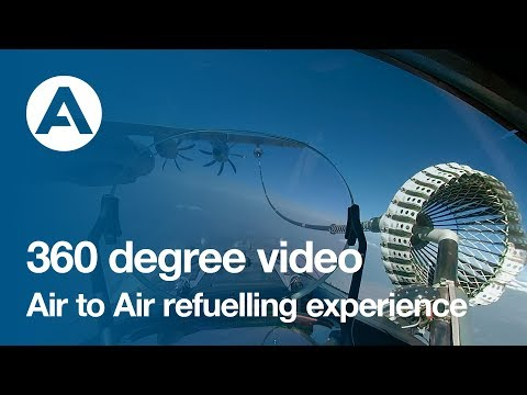 360 degree video: Live the Air to Air refuelling experience!