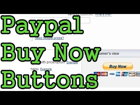 Add Paypal Buy Now Button To Website