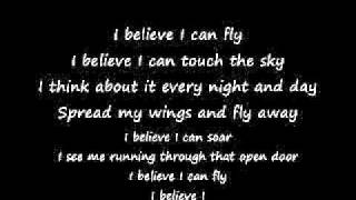 Repeat youtube video I Believe I Can Fly - R. Kelly - Lyrics