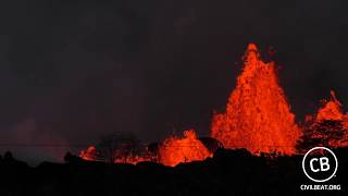 Live Video: Kilauea Lava Flow Activity In Lower Puna Hawaii thumbnail