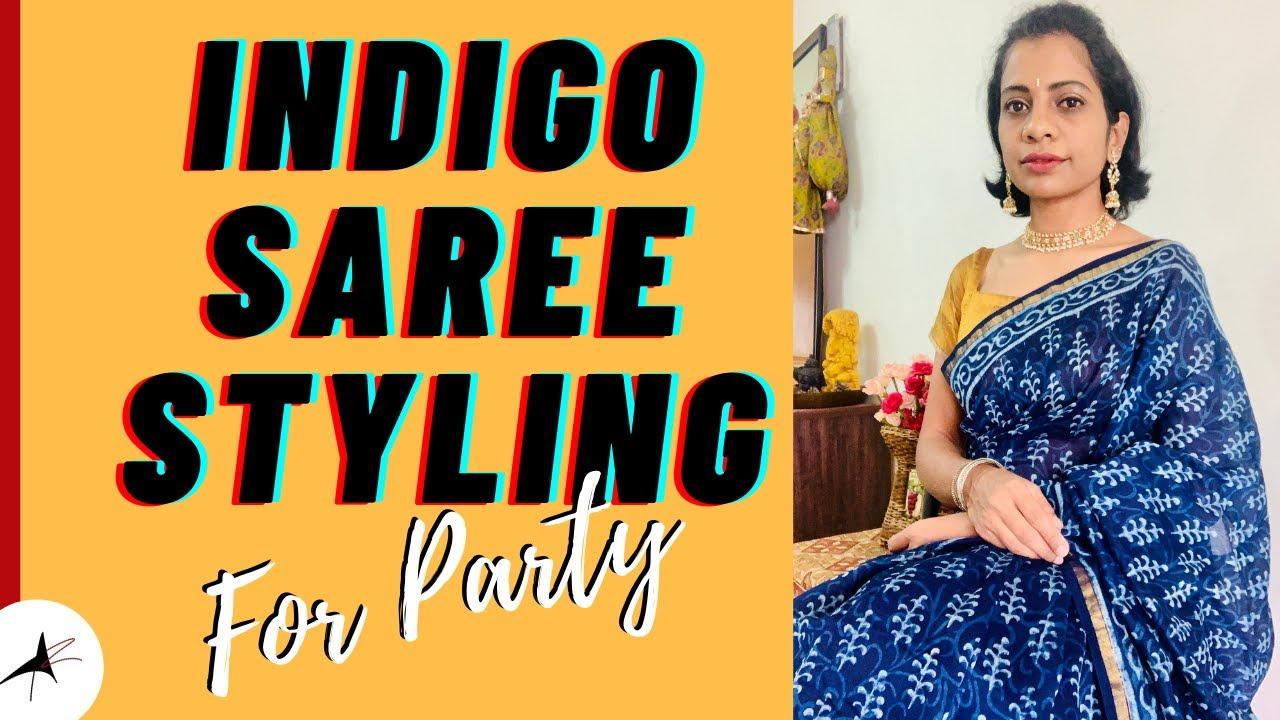 Indigo Saree Styling