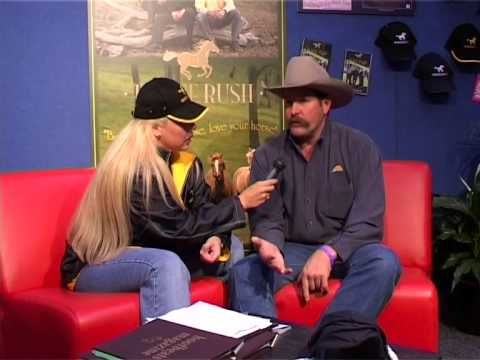 PAT PARELLI ON HORSE RUSH TV AT EQUITANA AUSTRALIA 2005