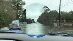 Driving Through Flooded Cypress, TX - Boudreaux & Telge Rd - Jan 2019 Video