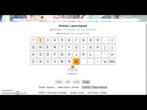 """Electro Mashup, """"Mix"""" Online Launchpad"""