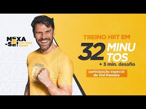 Mexa-se com Samir Goulart e part. especial de Vivi Ferreira | HIIT em 32 minutos + 3 min de desafio