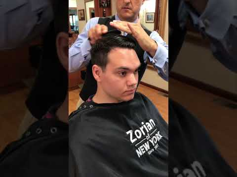 Ivy League Haircut Styled With Pomade Hair Cream