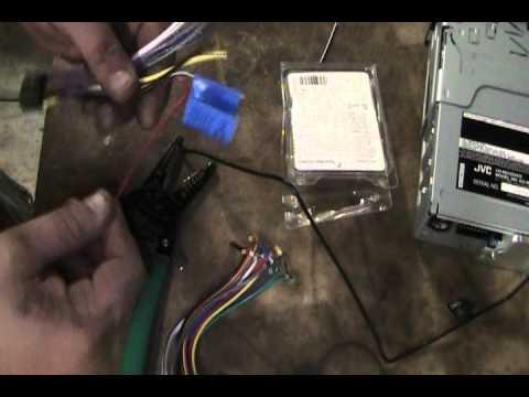 hqdefault how to wire aftermarket car stereo gm example youtube Dual Car Stereo Wire Harness at edmiracle.co