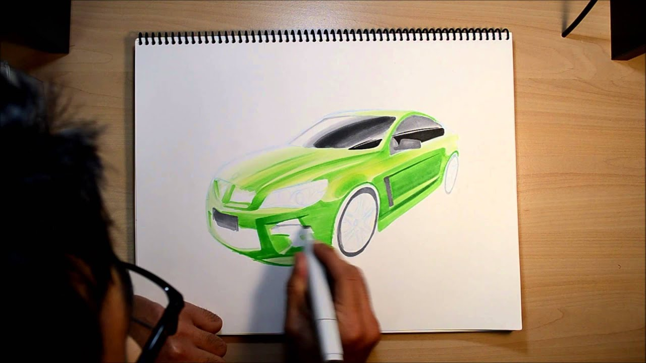 Holden Commodore Sketch Youtube 2015 Ford Mustang Sketches