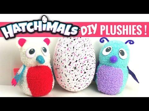 ✨DIY HATCHIMAL PLUSHIES TUTORIAL-with FREE PATTERN!/Sock Plushies