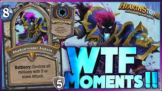 Hearthstone - Frozen Throne WTF Moments - Funny and lucky Rng Moments