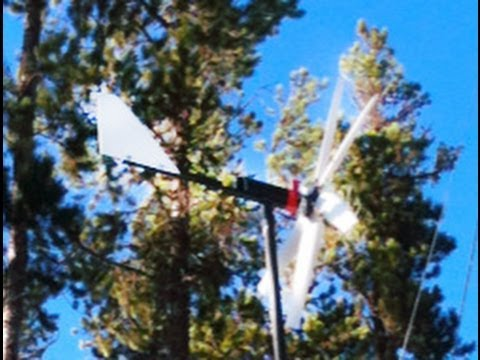 Cheap DIY Wind Turbine Does Well in Wind Storm