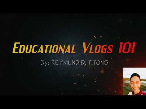 Educational Vlogs 101 Intro