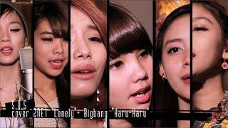2NE1 Lonely + BIGBANG Haru Haru cover by S.O.S | Beautiful Sexy Girl band