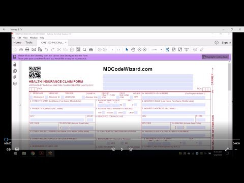 How To Correctly Fill Out Form CMS1500 For Electronic Billing - Professional Claims