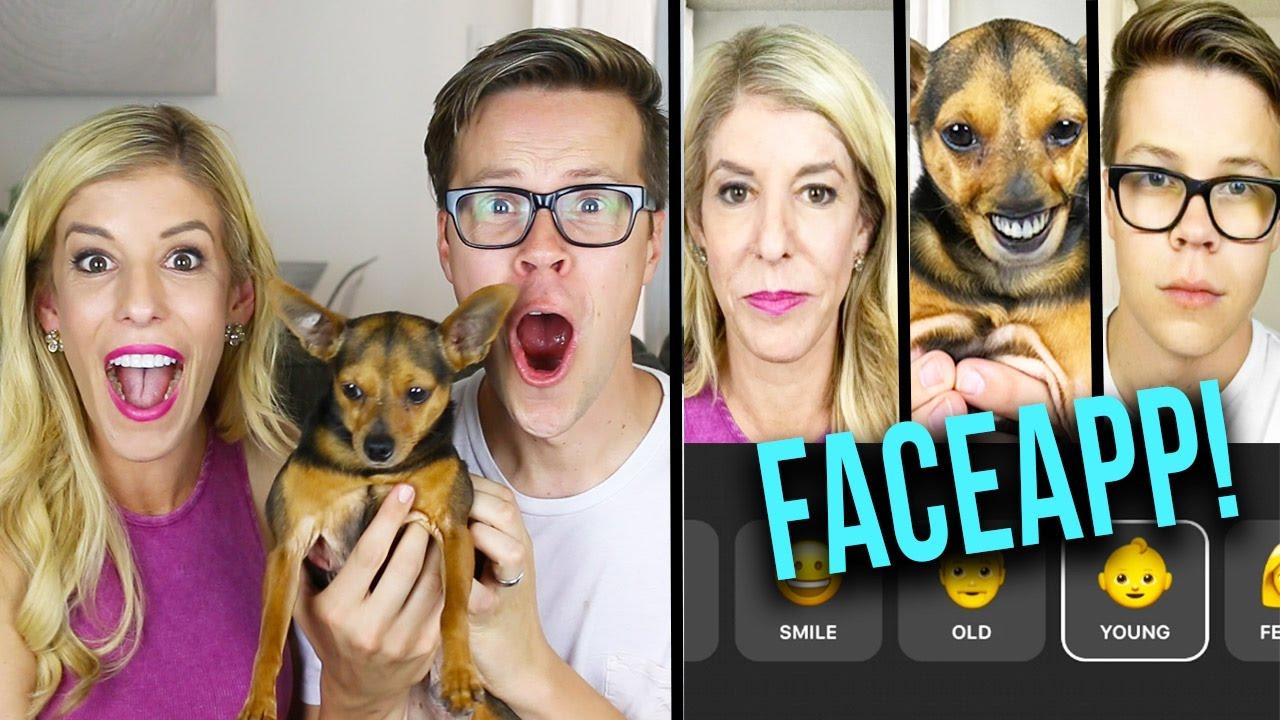 FACEAPP CHALLENGE WITH REBECCA ZAMOLO & DOG! (DAY 120) comp