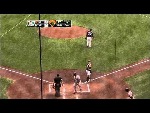 SF@MIL: Morse's single knocks in a pair of runs